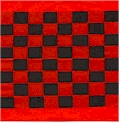 Black and red checkerboard